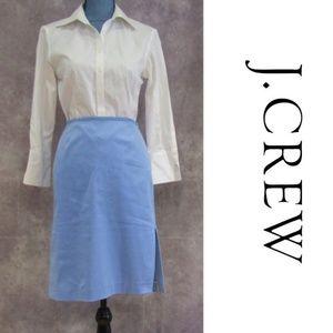 J. Crew Petite Blue Pencil Skirt Size P6